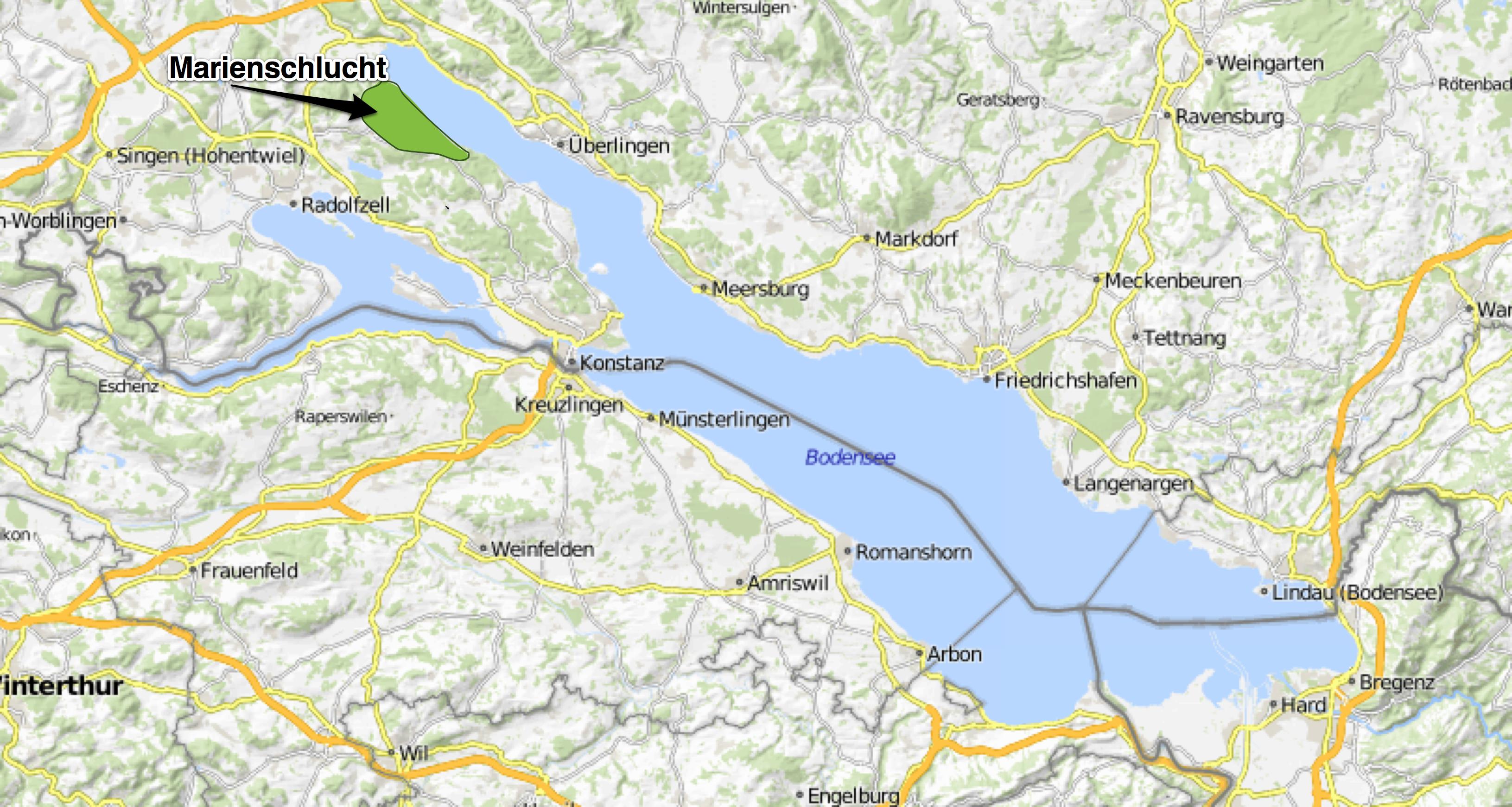 Bodensee Karte Schweiz.Marienschlucht Die Schonste Schlucht Am Bodensee