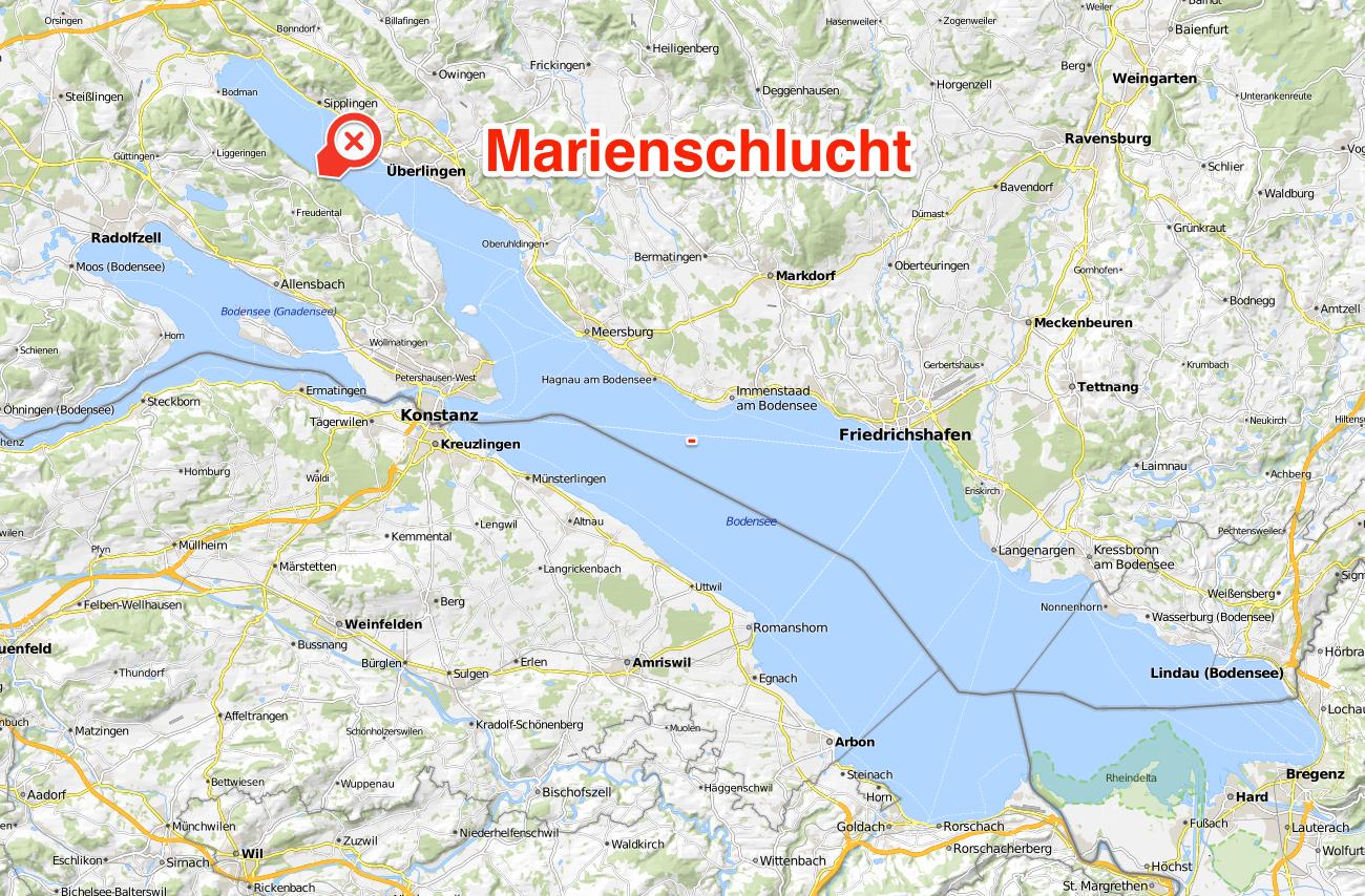 Karte marienschlucht for Bodensee karte