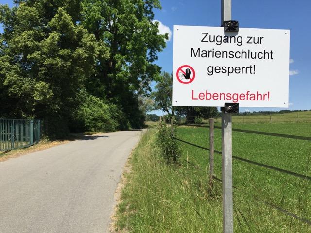 Marienschlucht_gesperrt